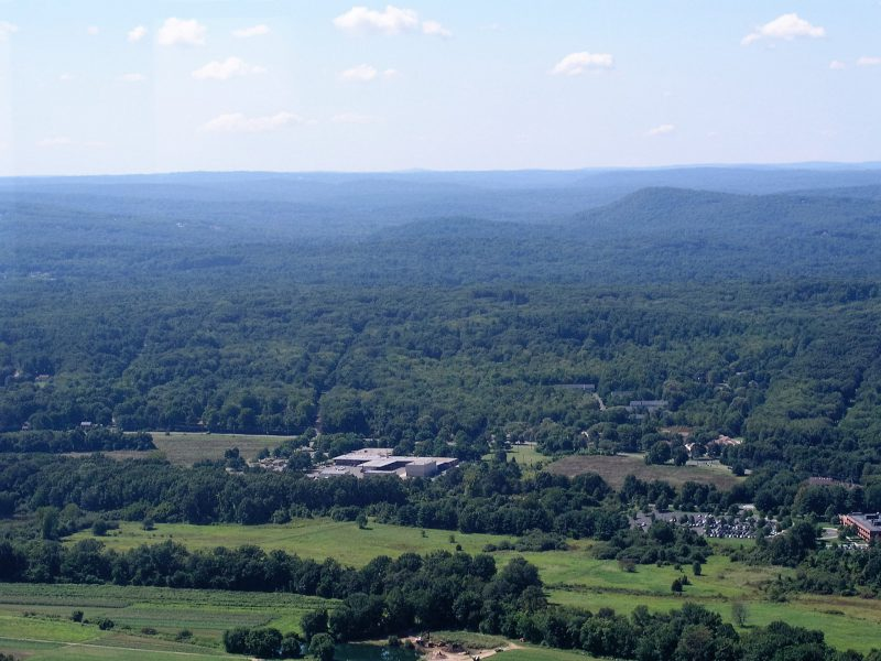 View from top of Heublein Tower
