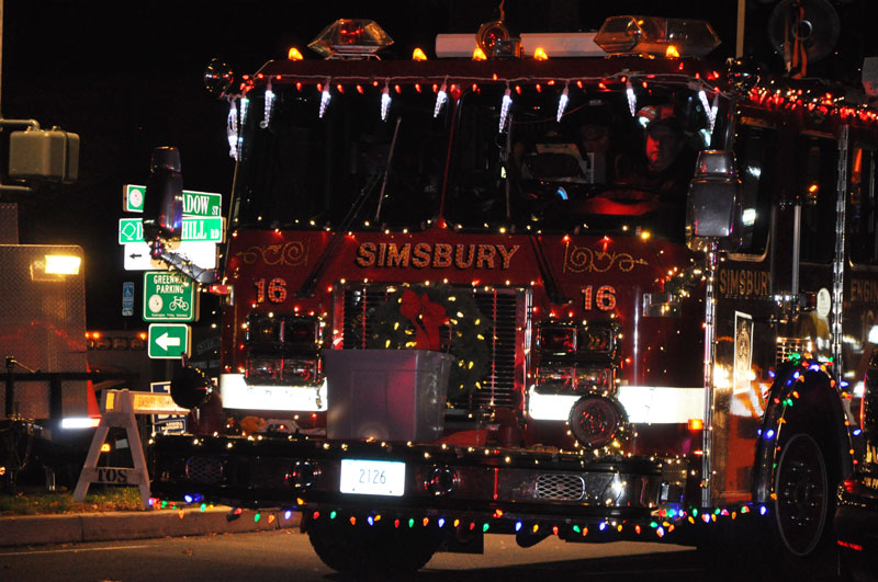 Holiday Parade of Decorated Fire Trucks - Simsbury, Ct