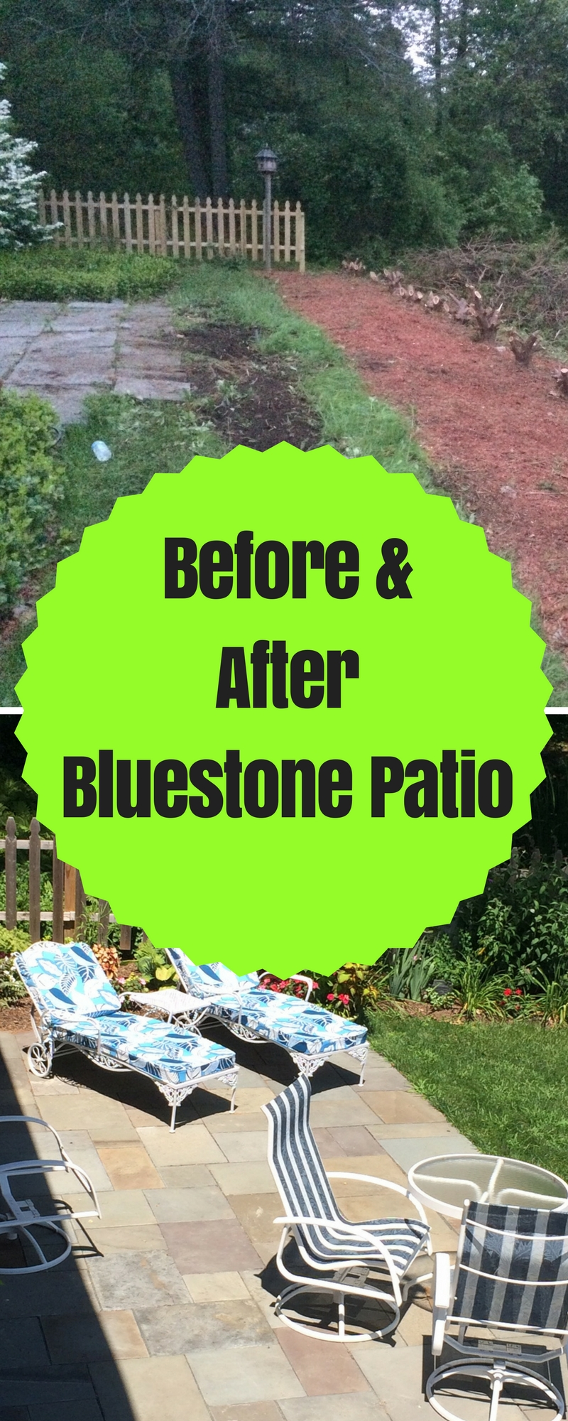 Before and After Bluestone Patio