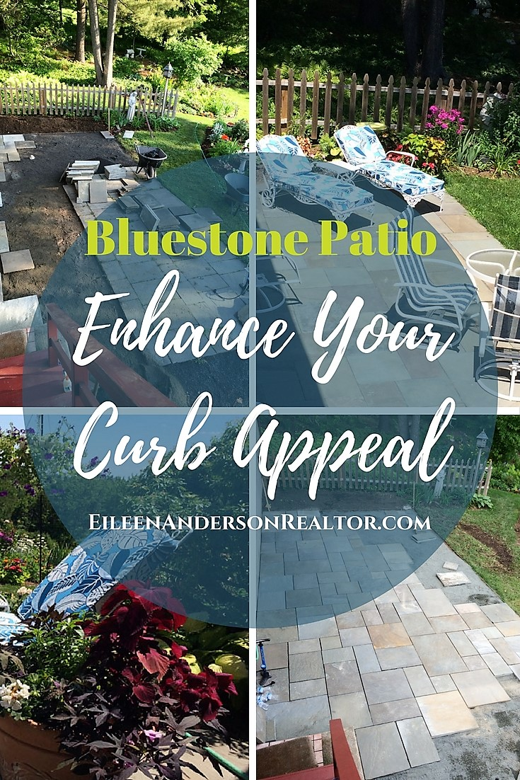 Bluestone Patio - make a house a home, curb appeal, home staging, home renovations, DIY, landscape design, outdoor living, gardens, real estate, home sales