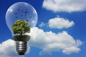 LIght Bulb Clean Energy Solar