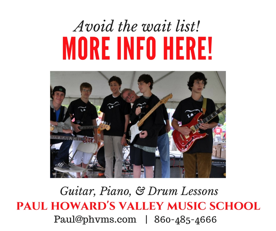 Paul Howard's Valley Music School. Lessons for all ages, Guitar, Violin, Piano, Drums, Voice Lessons!