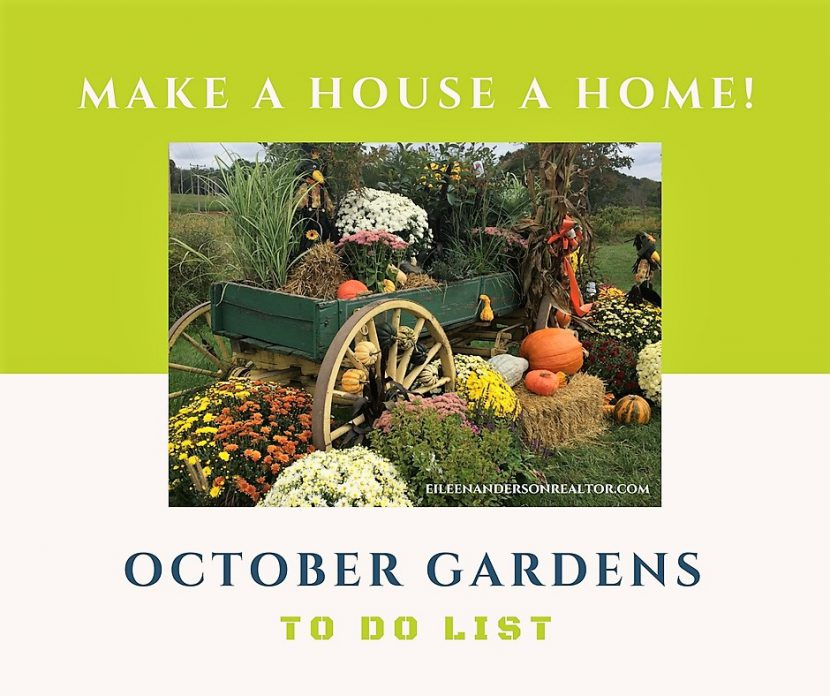 October gardens, Lawn maintanence, to do list, plant care, gardens, landscape design, Fall garden chores
