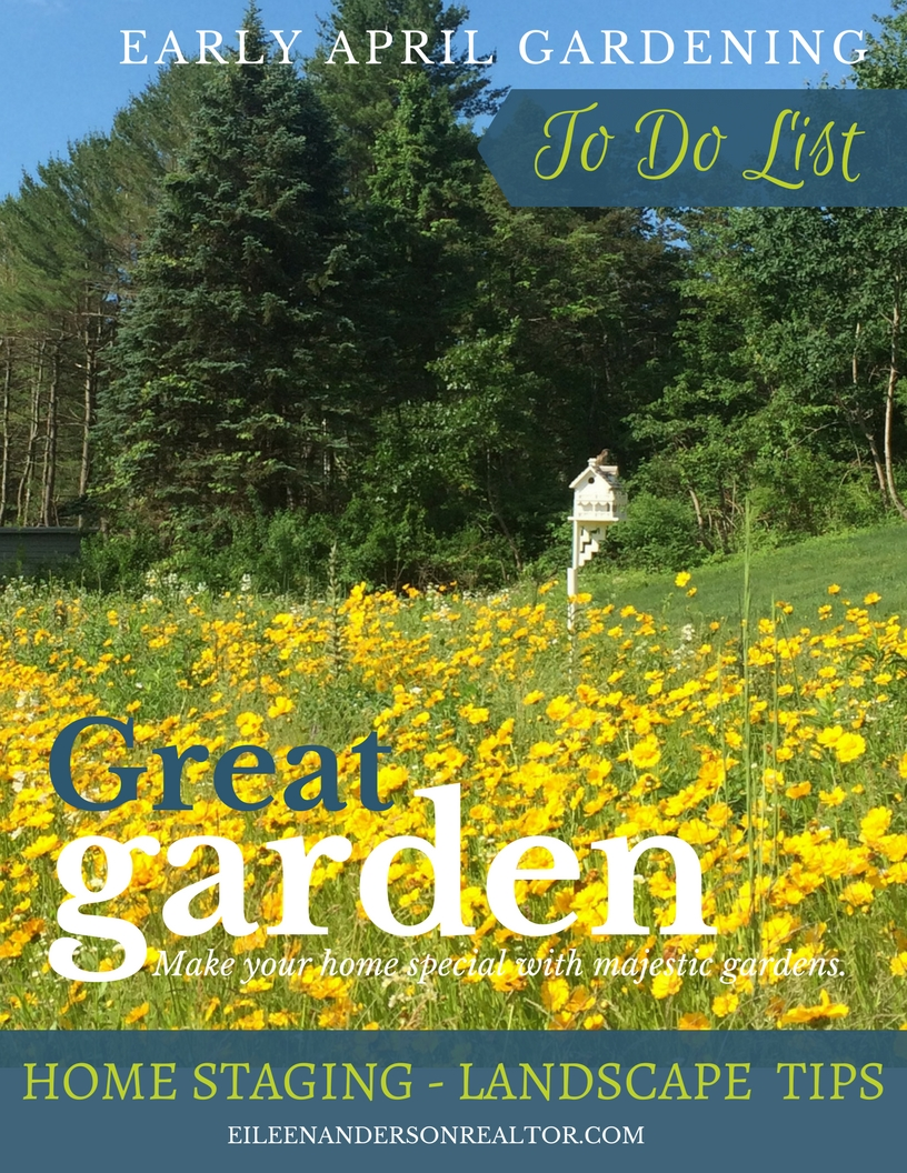 Garden Ideas, garden and lawn, early april to do list, home staging to sell, real estate,diy, home improvement