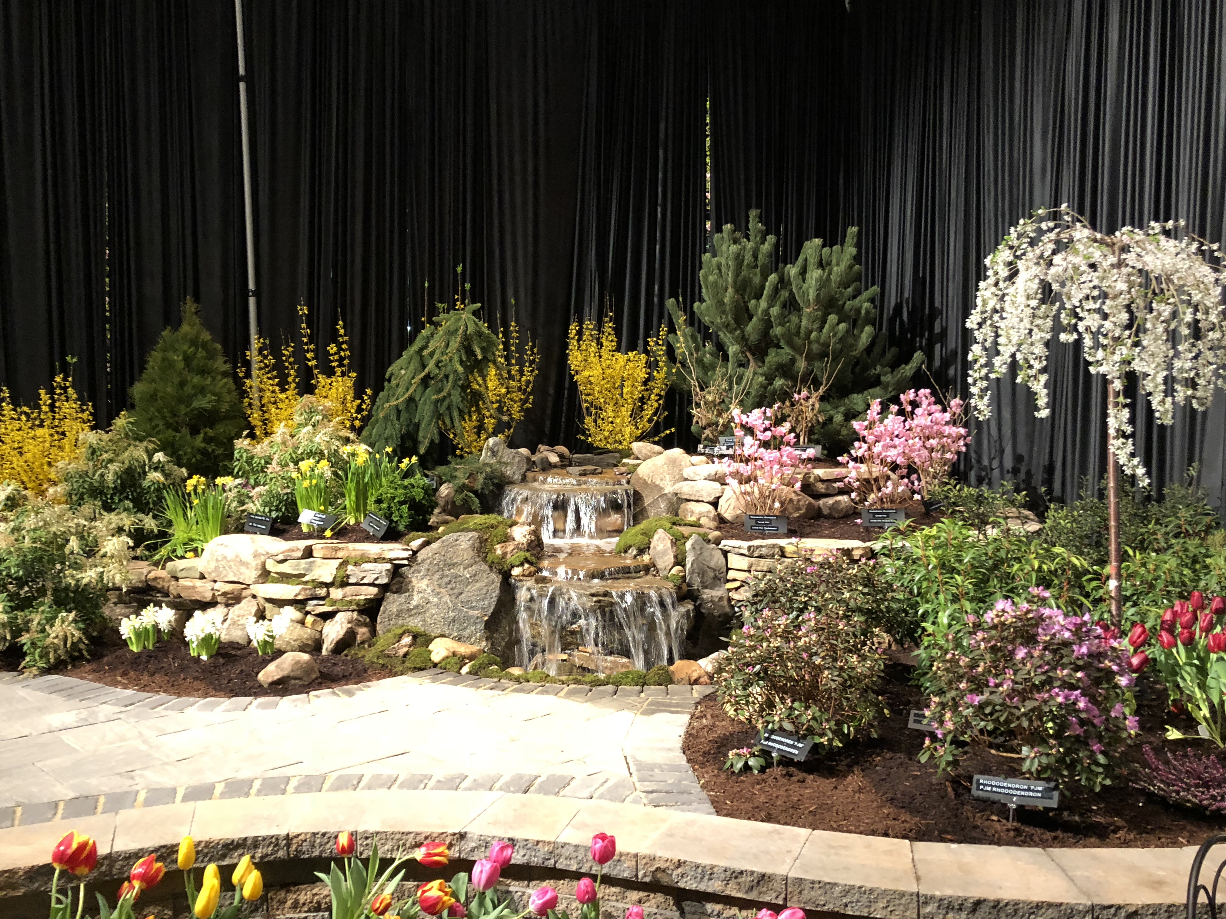 Landscaping with Water Features and Stone Walls