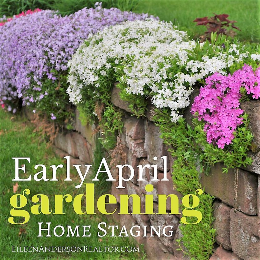 home staging, april gardening, real estate, simsbury ct, realtor simsbury
