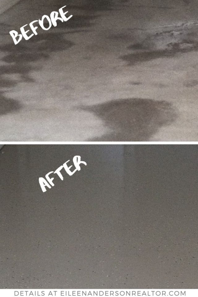 painted garage floor before after