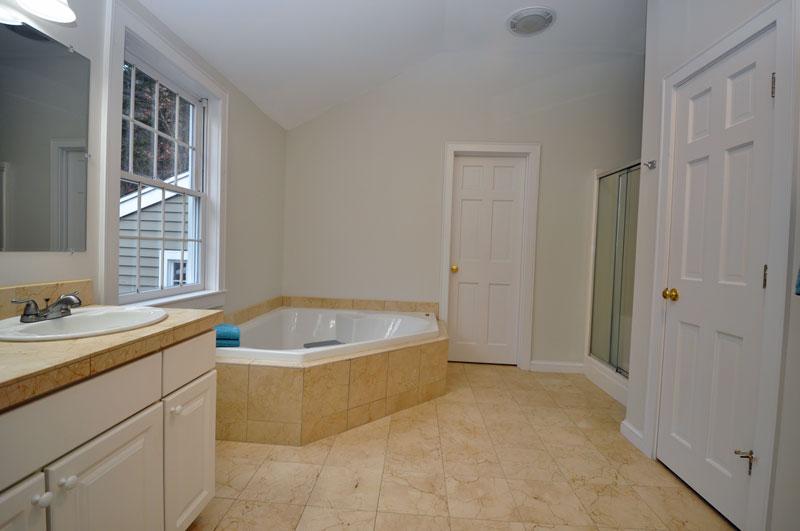 Master Bath suite with Jacuzzi Tub.